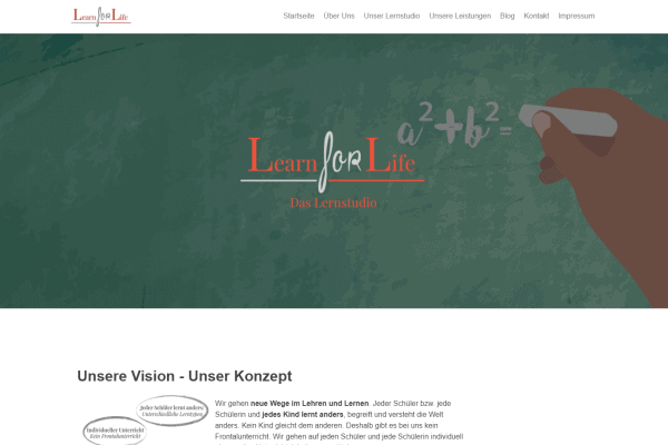 Learn for Life – Website